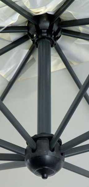 Зонт профессиональный двухкупольный Alu Double Dark
