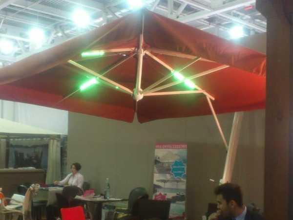 Светильник мерцающий для зонтов с боковой опорой