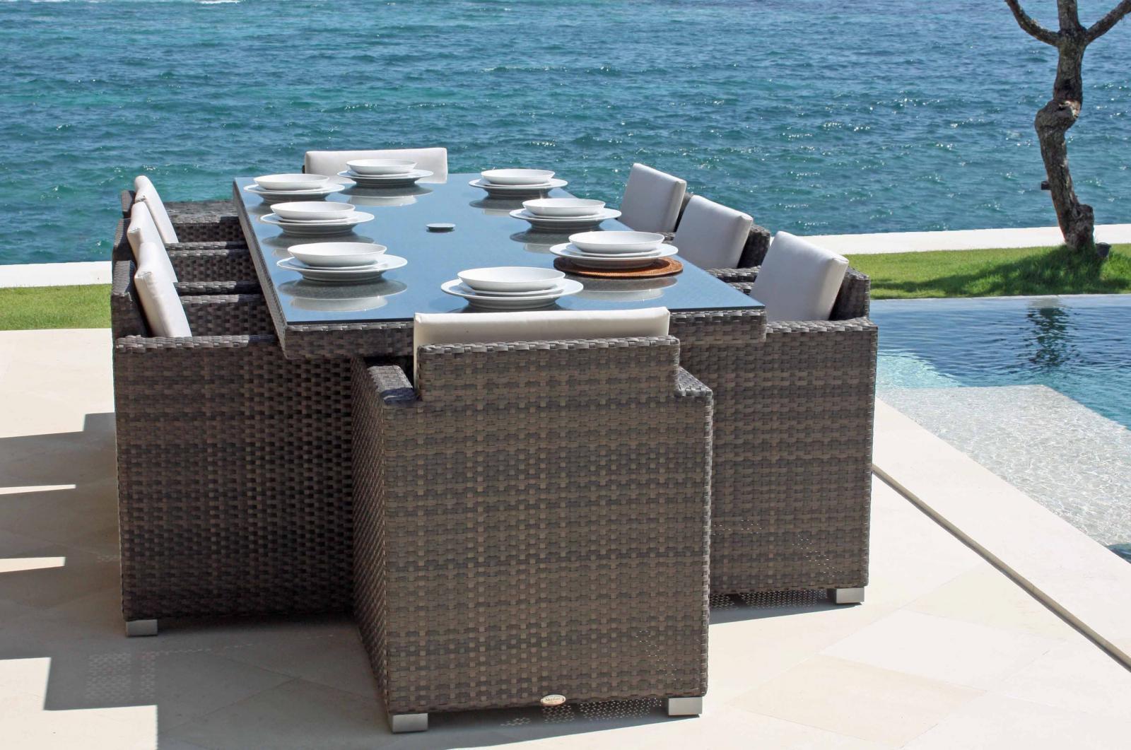 Комплект плетеной мебели на 8 персон Pacific