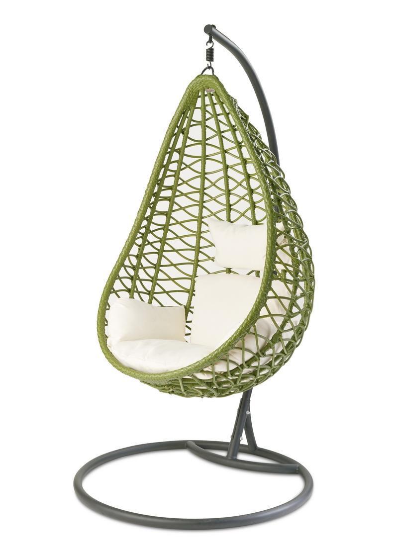 Кресло плетеное подвесное Aura Green