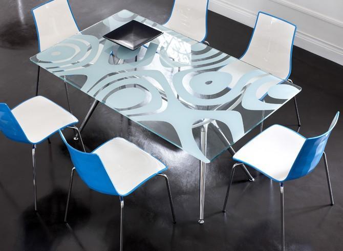 Столешница стеклянная прямоугольная Glass Tops for Metropolis Bases