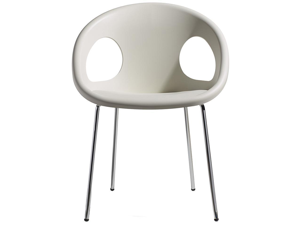 Кресло пластиковое Drop 4 legs chromed frame