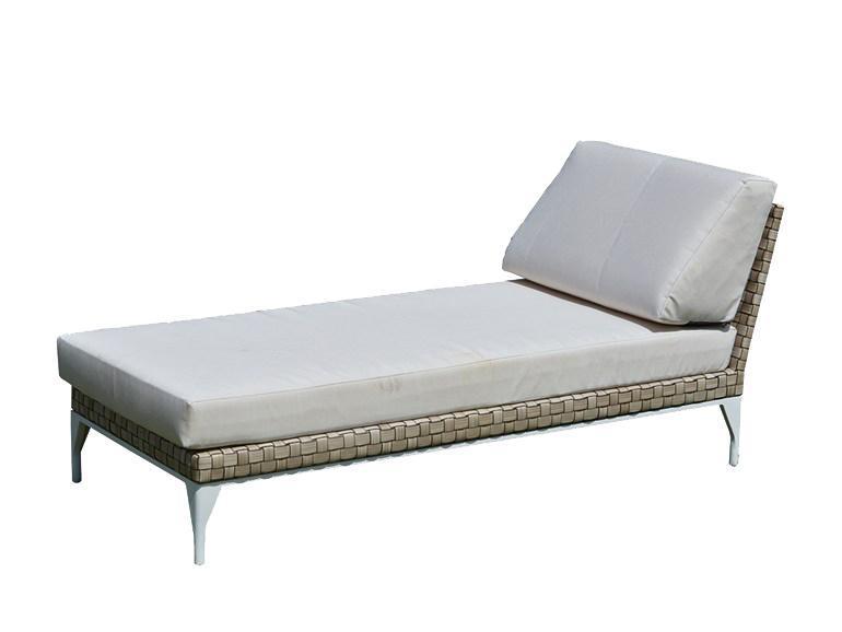 Модуль плетеный, шезлонг-лежак Brafta