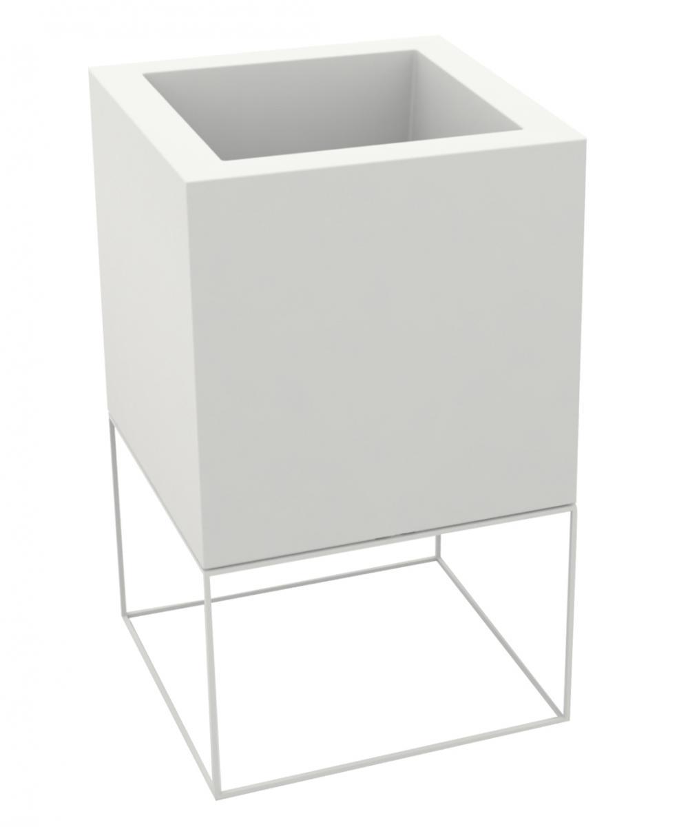 Кашпо пластиковое Vela Nano cubo Basic