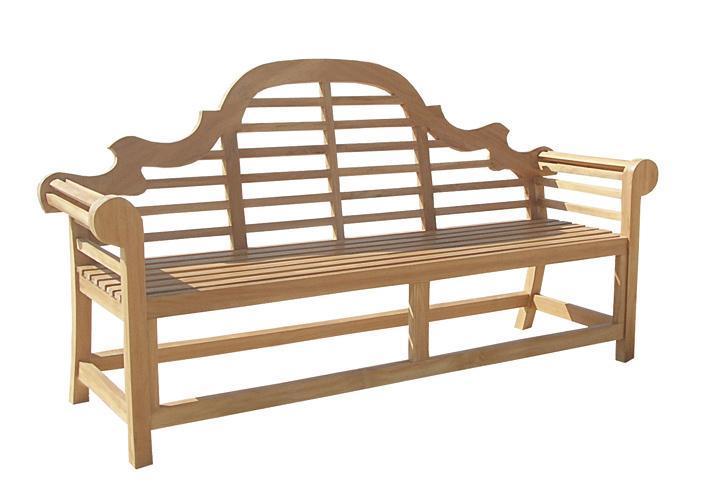 Скамейка деревянная трехместная Vittoria