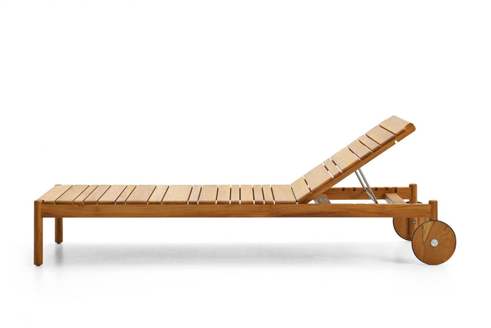 Шезлонг-лежак деревянный Barcode