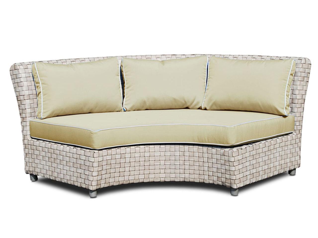Плетеный уголовой диван Florence