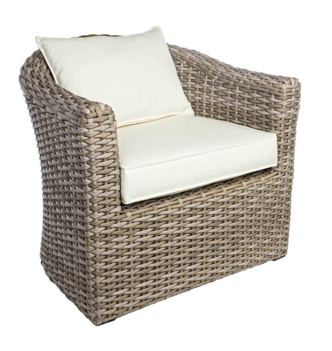 Кресло плетеное с подушками Brady