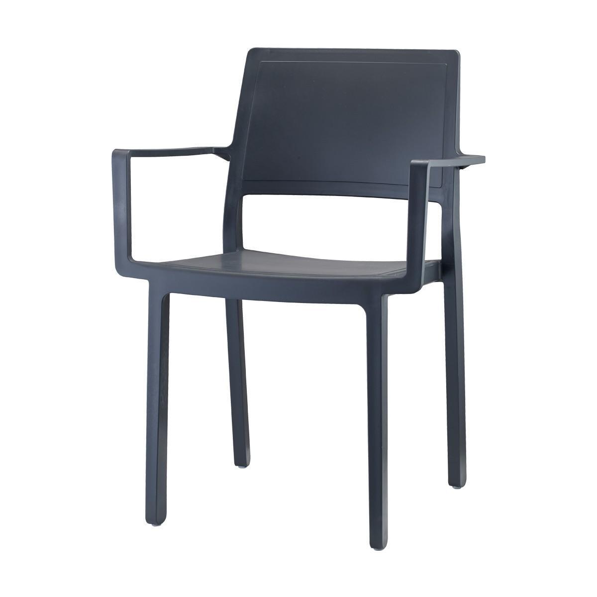 Кресло пластиковое Kate with armrests
