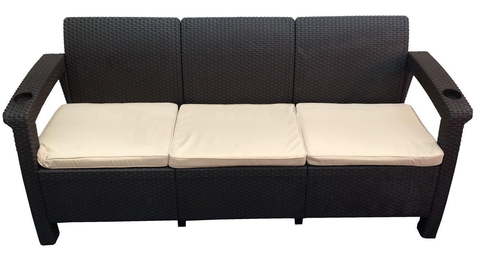 Диван пластиковый трехместный Sofa 3 Seat