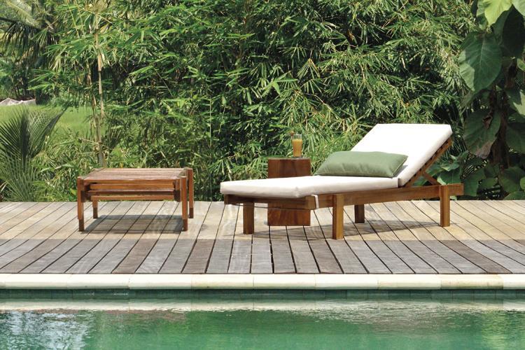 Шезлонг-лежак деревянный Los Roques