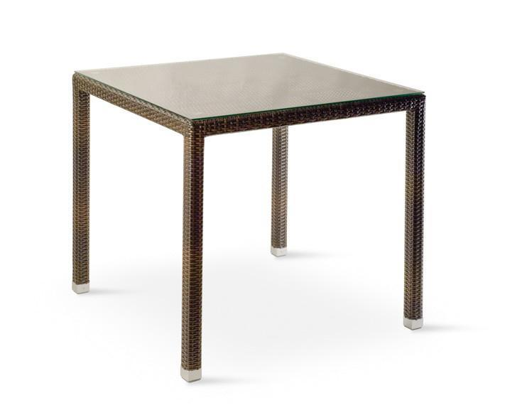 Стол плетеный со стеклом GT 980