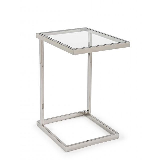 Стол стеклянный журнальный Saphira