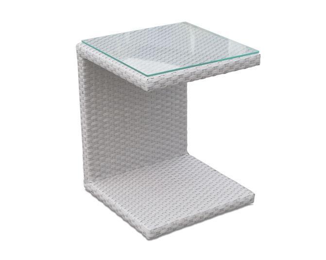 Стол плетеный со стеклом для лежака Madisson