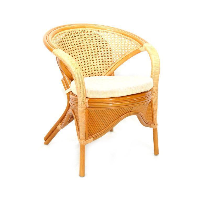 Кресло плетеное с подушками Rainbow