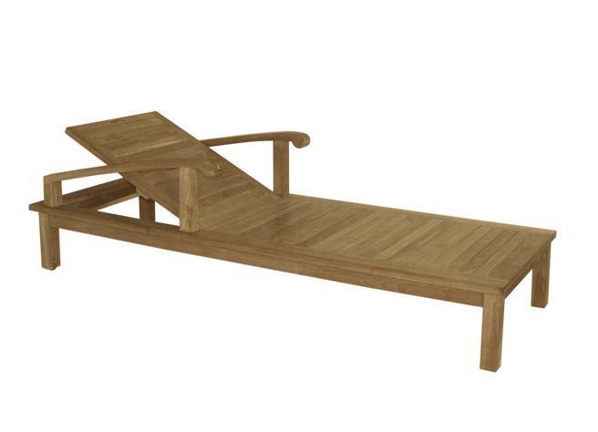 Шезлонг-лежак деревянный Saint Laurent