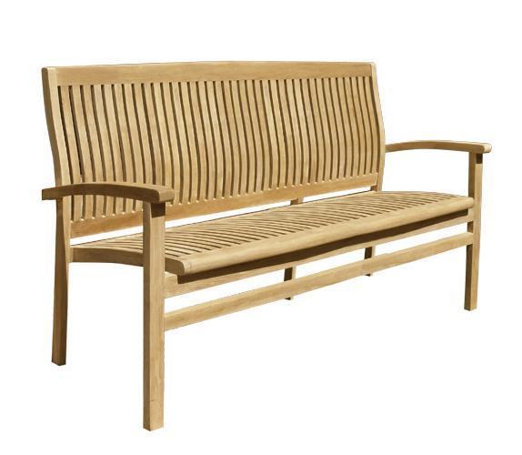 Скамейка деревянная трехместная Onda