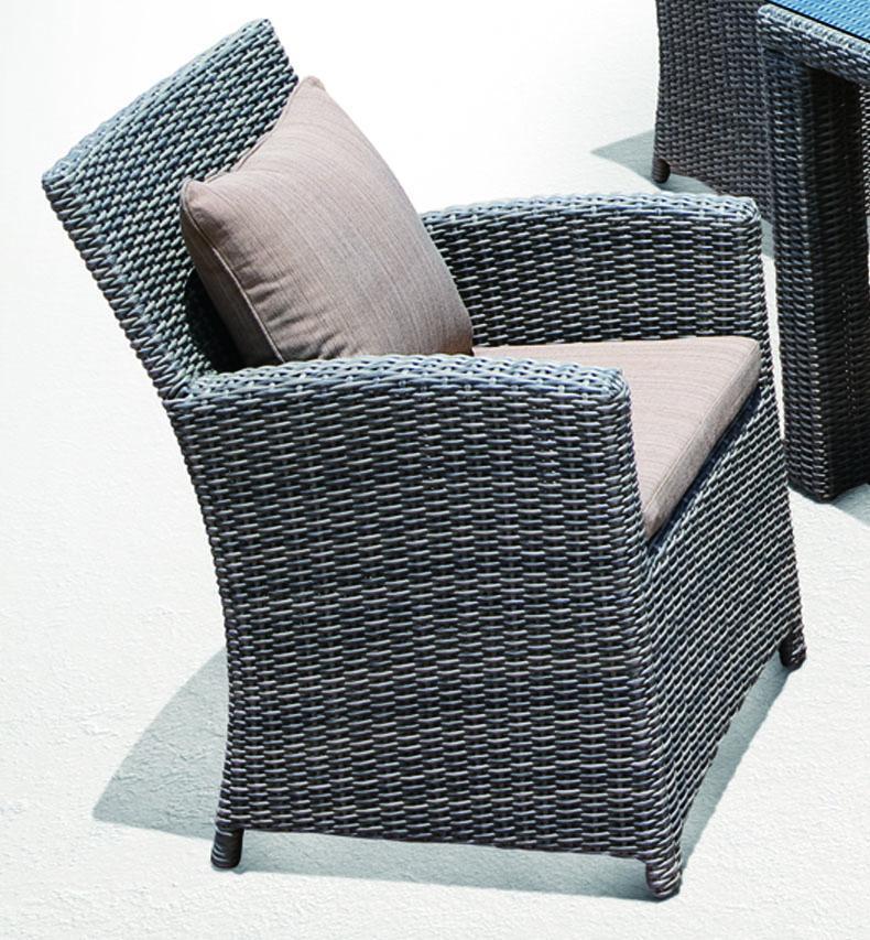 Кресло плетеное с подушкой Grace