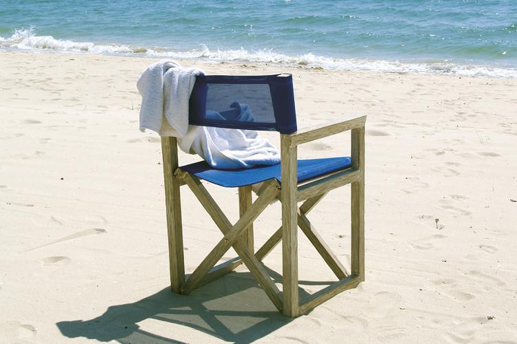 Кресло деревянное складное мягкое White Sand
