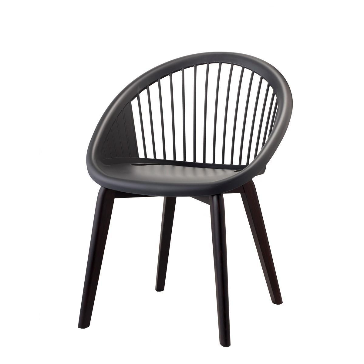 Кресло пластиковое Natural Giulia solid wood frame