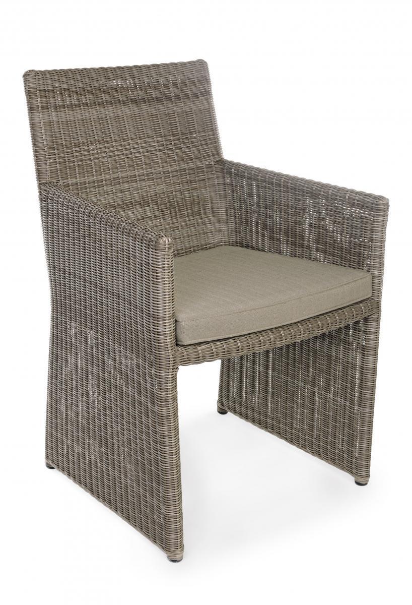 Кресло плетеное с подушкой Abigail