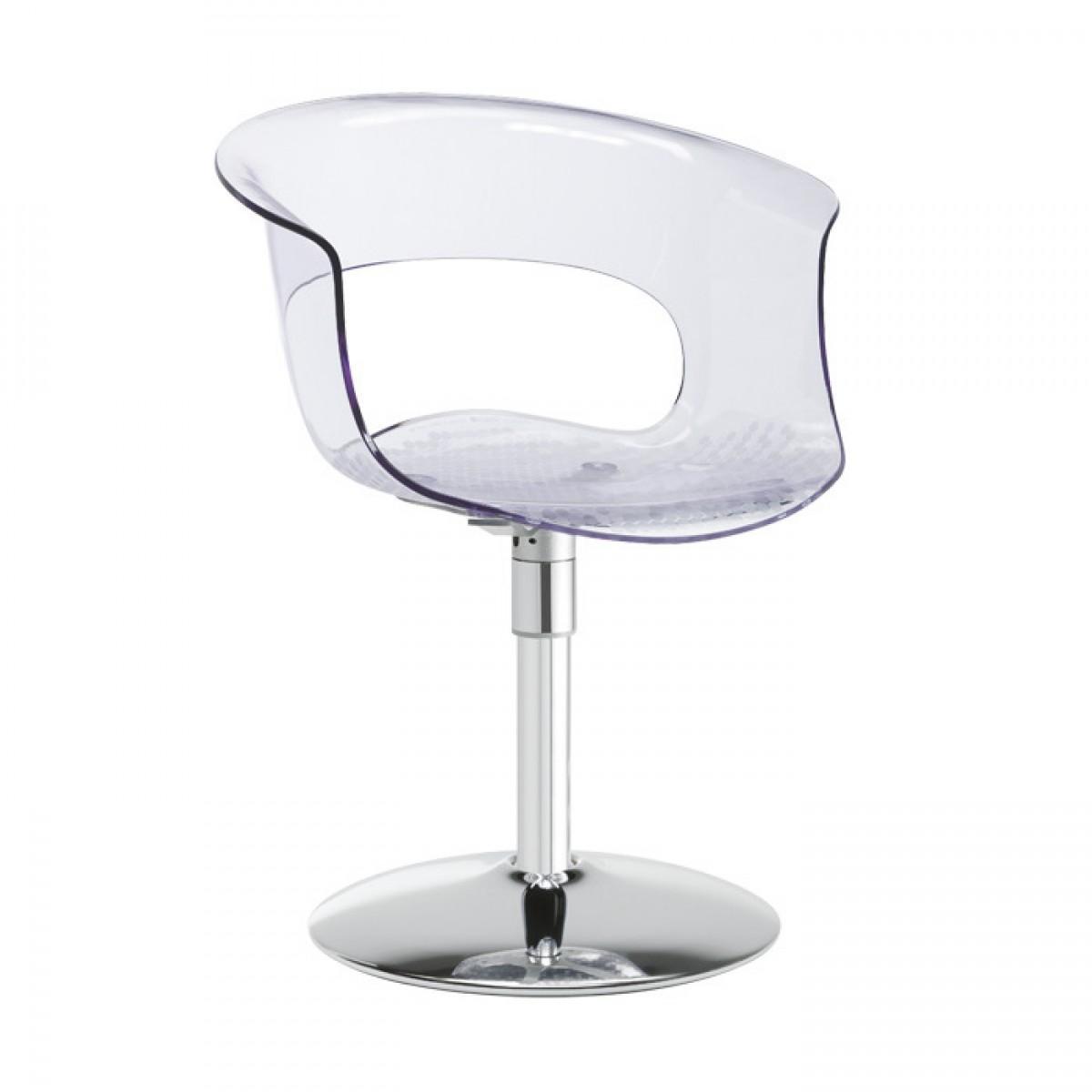 Кресло прозрачное вращающееся Miss B Twist Antishock