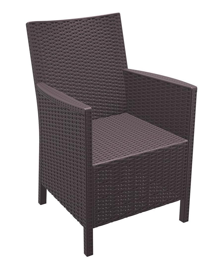 Кресло пластиковое плетеное California