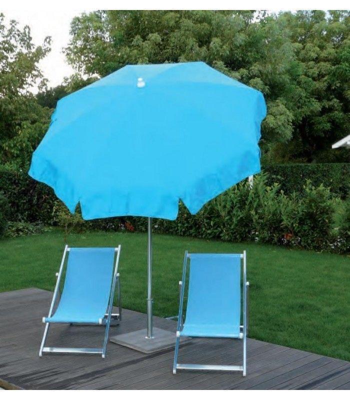 Круглый зонт с центральной опорой, 2000 мм, бирюзовый, 2000х2000х2300 мм, Maffei, Superalux, Италия