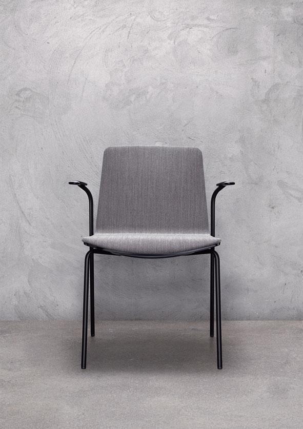 Кресло пластиковое с обивкой Noa