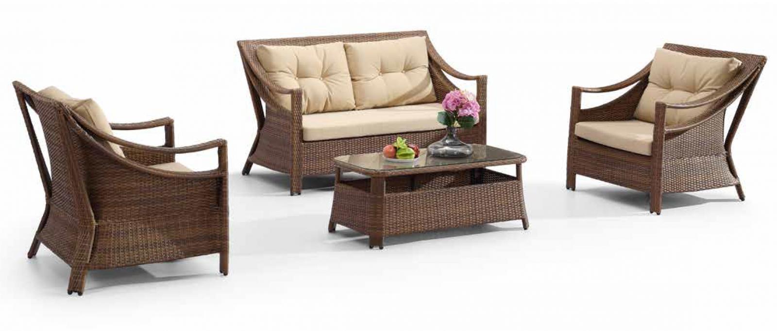 Комплект плетеной мебели Indiana