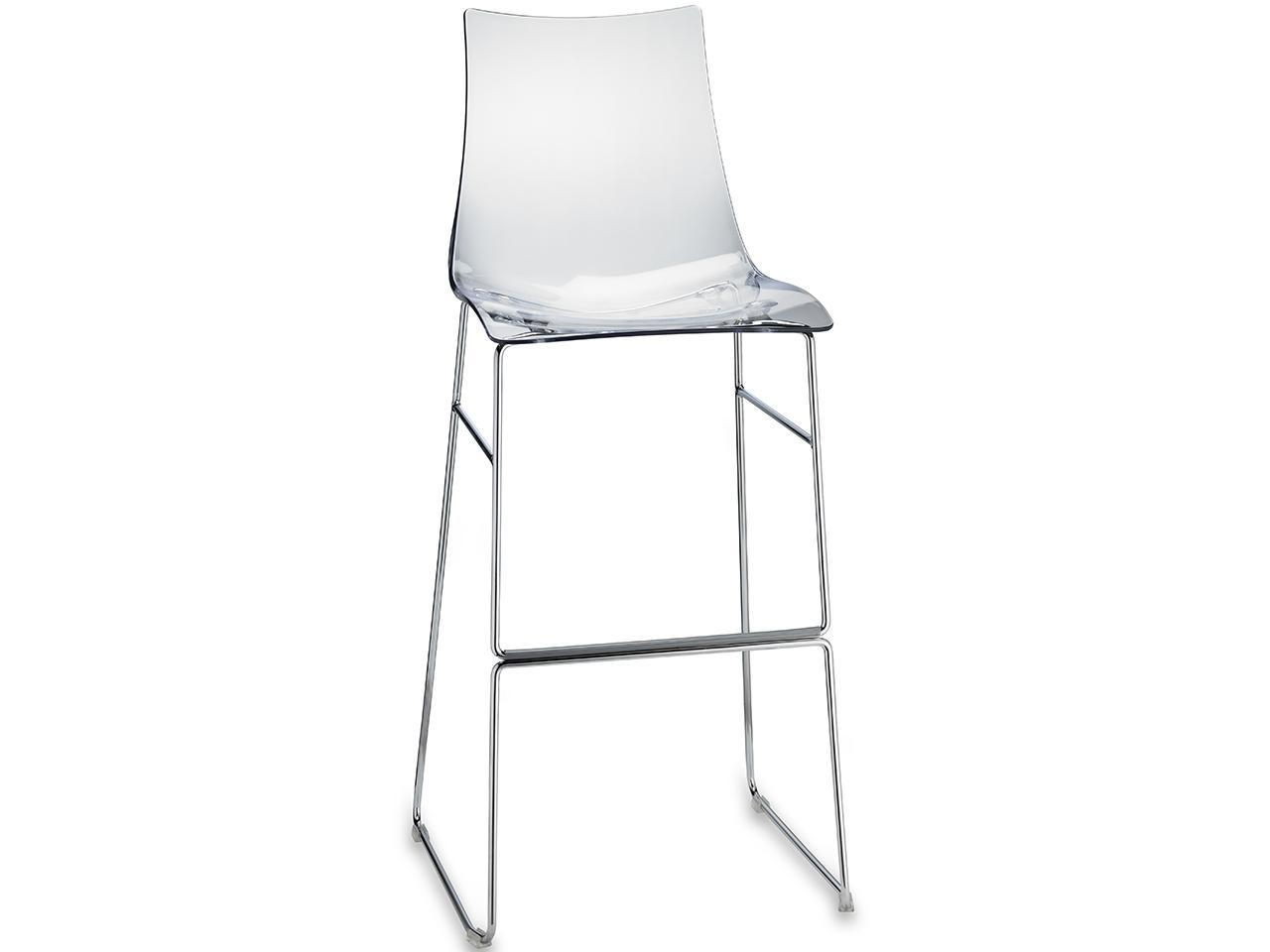Барный прозрачный стул Zebra Antishock Barstool