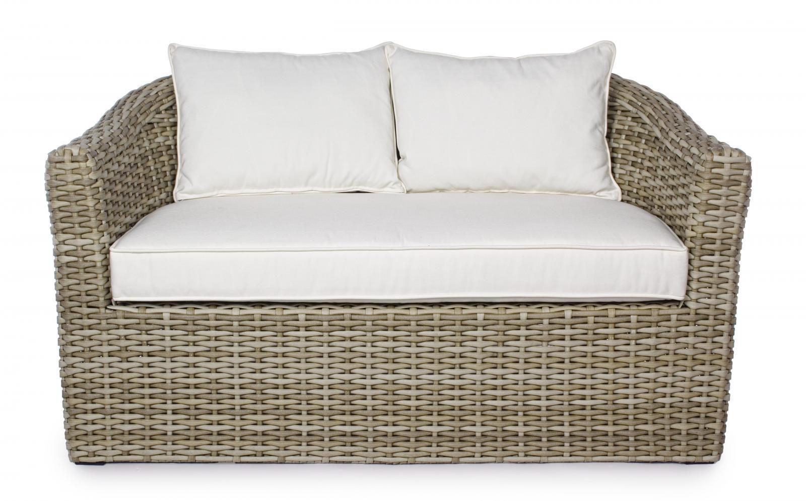 Диван плетеный с подушками Brady