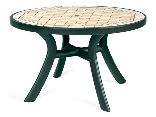Стол пластиковый обеденный Toscana 120 с мозаикой Ravenna
