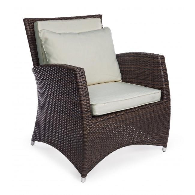 Кресло плетеное с подушками Antalys