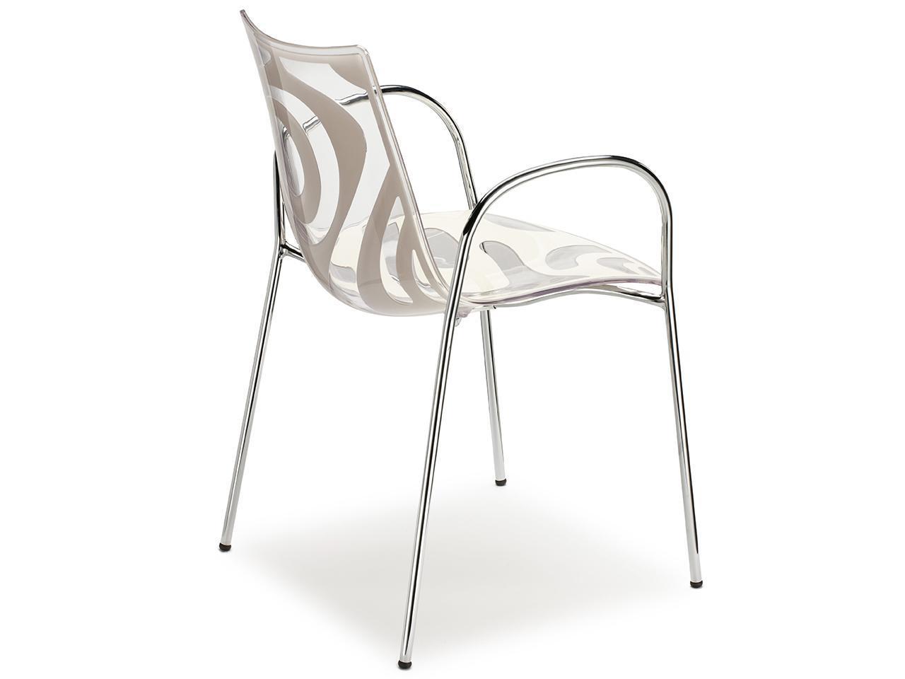 Кресло прозрачное Wave with armrests