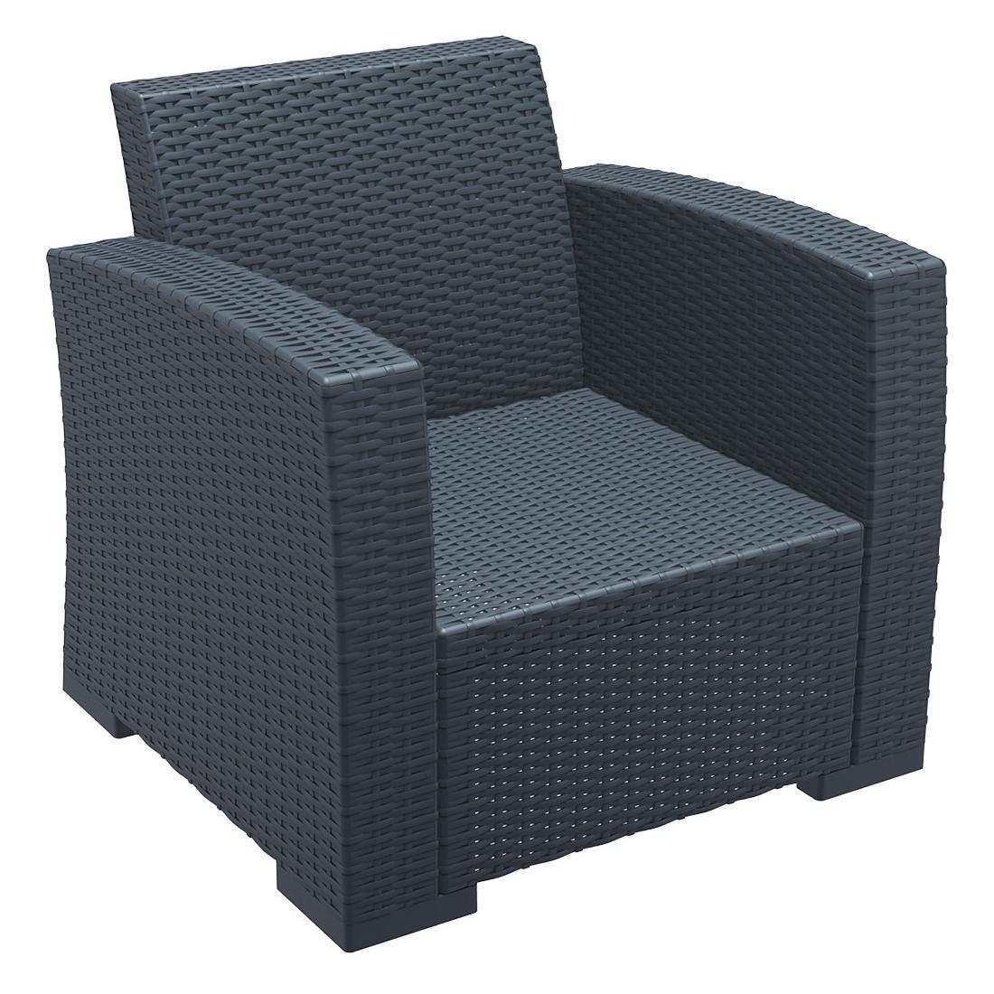 Кресло пластиковое плетеное Monaco Lounge Armchair