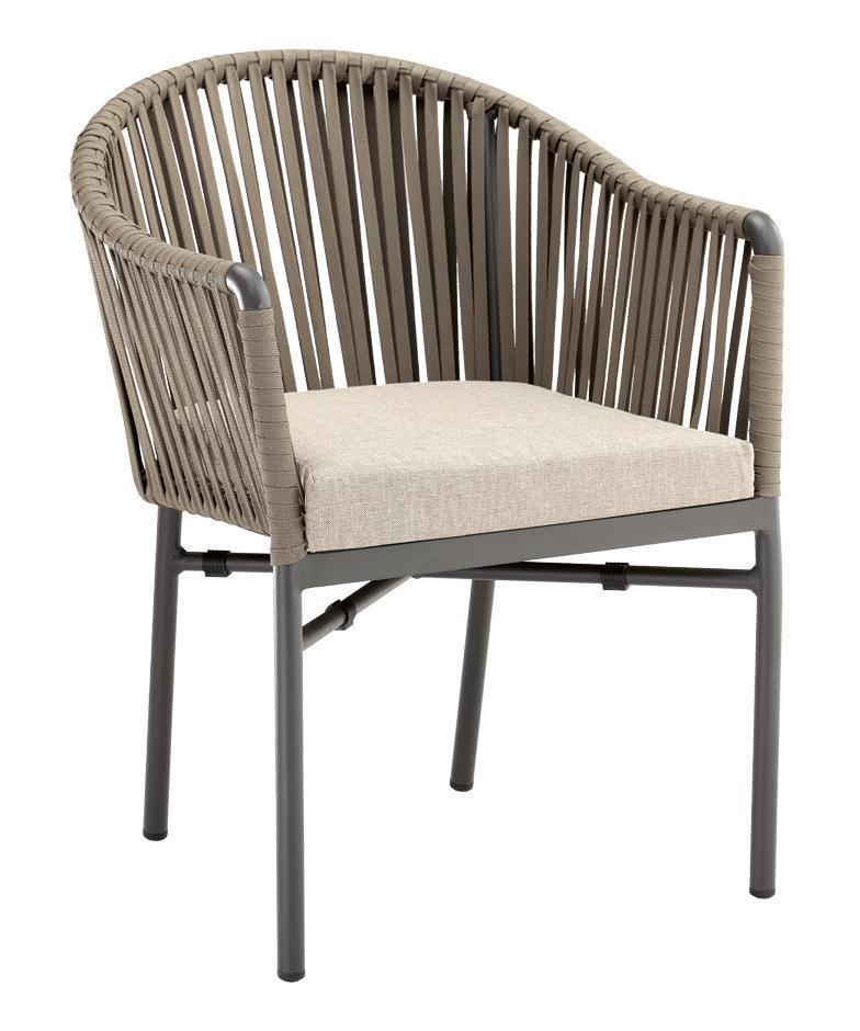 Кресло плетеное с подушкой Monaco