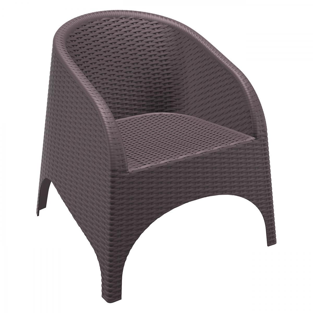 Кресло пластиковое плетеное Aruba