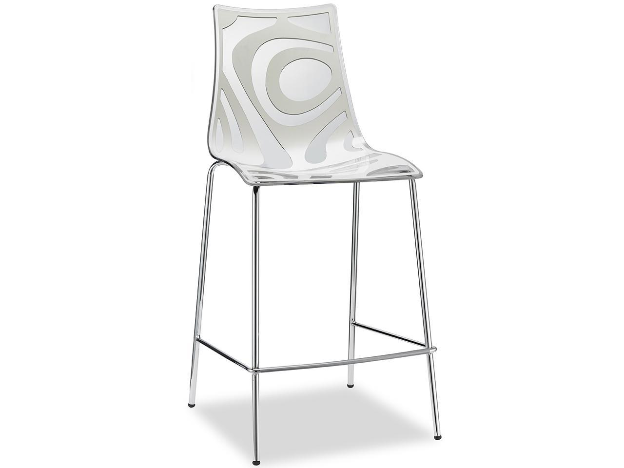 Полубарный пластиковый стул Wave Barstool