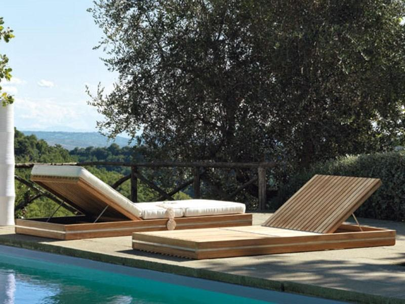 Лежак деревянный Essenza
