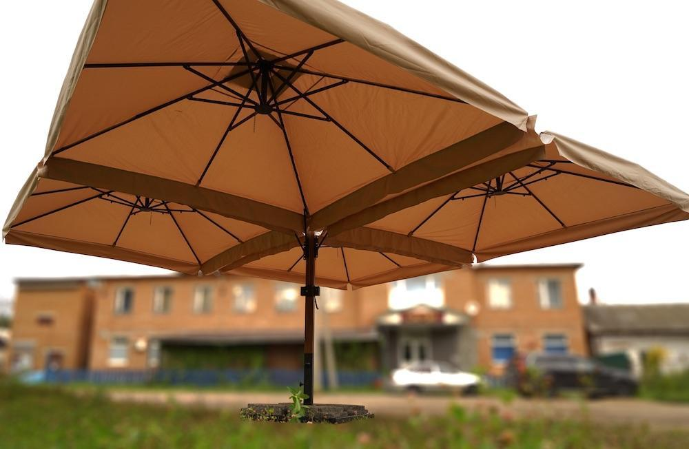Зонт профессиональный четырехкупольный