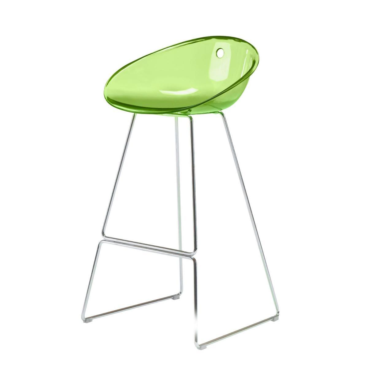 Полубарный прозрачный стул Gliss