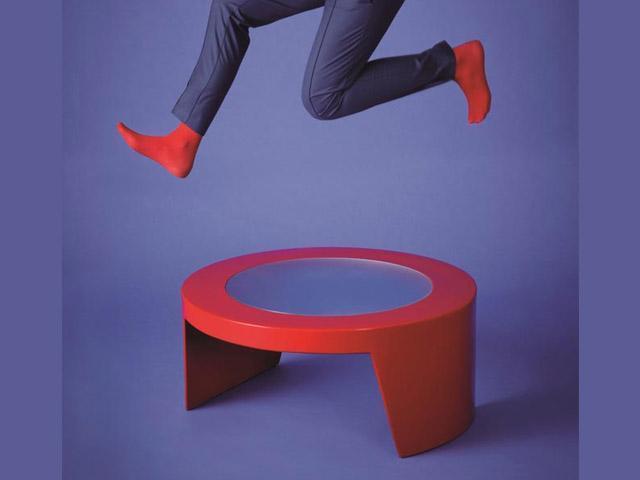 Стол пластиковый со стеклом журнальный Tao Standard