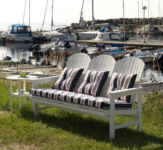 Скамейка деревянная уличная Sandhamn