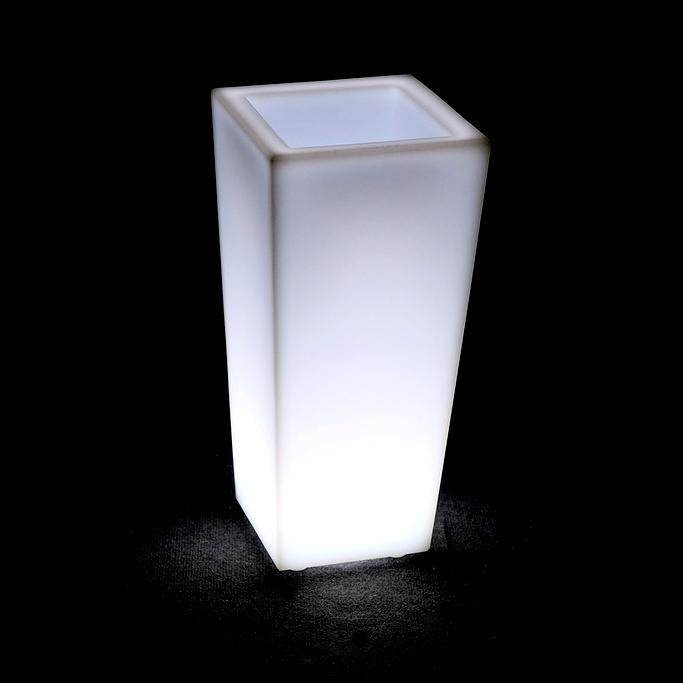 Кашпо пластиковое светящееся Quadrum