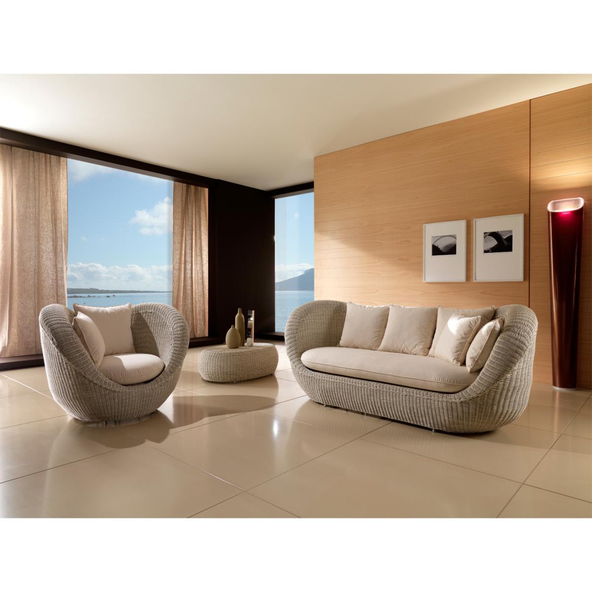 Лаунж-кресло плетеное с подушкой Movida