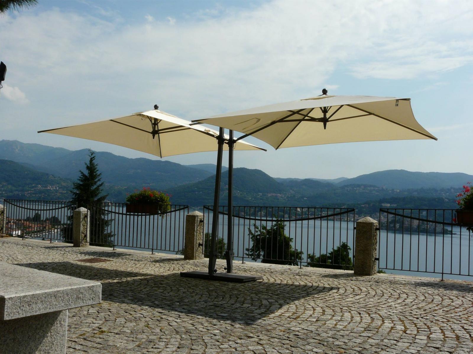 Зонт садовый двухкупольный Kronos TWIN