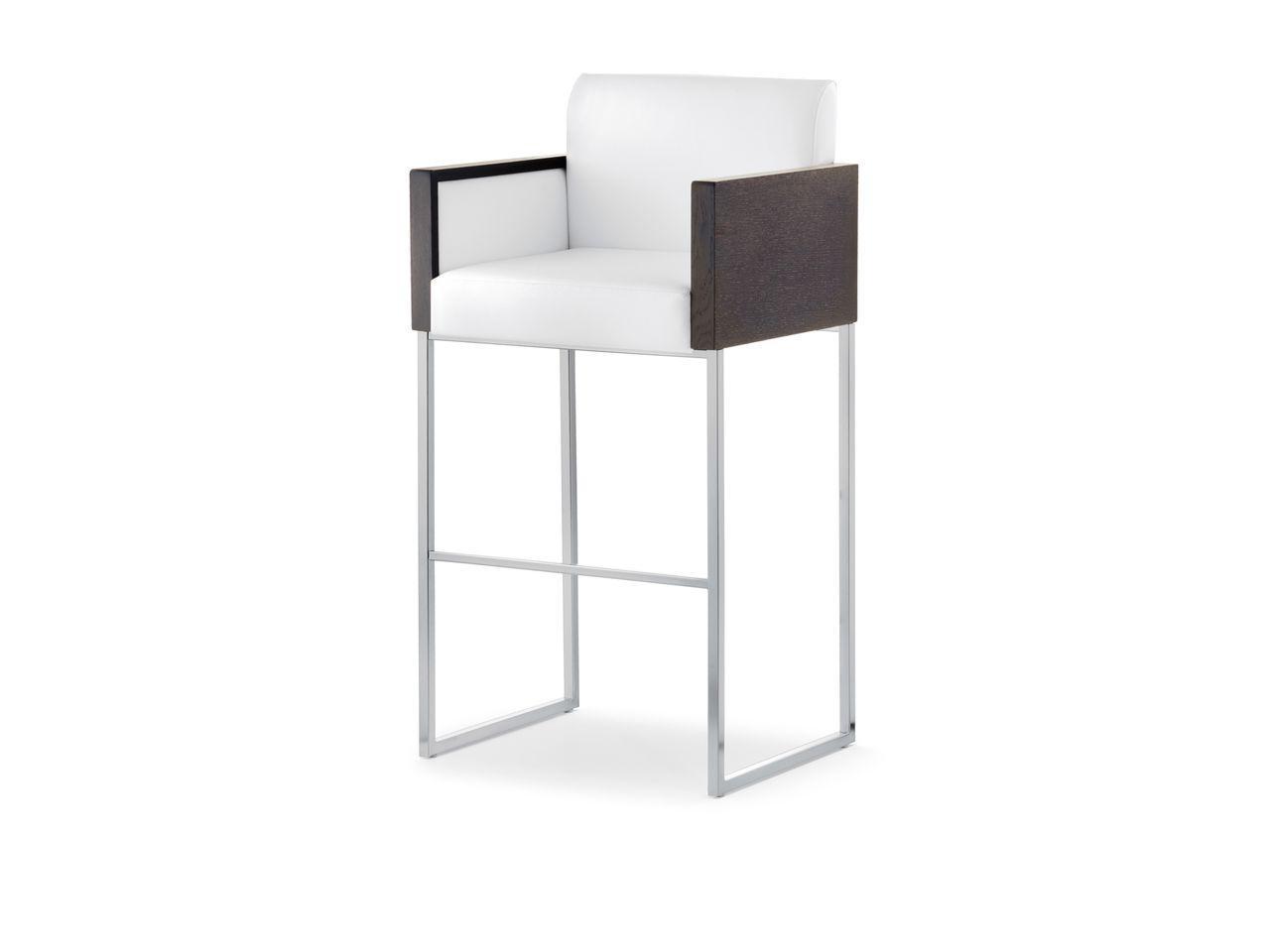 Барное металлическое кресло мягкое Box