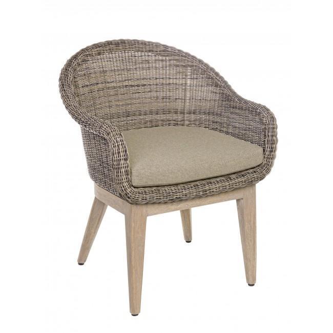 Кресло плетеное с подушкой Belen