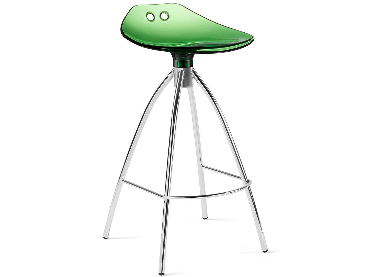 Полубарный прозрачный стул Frog